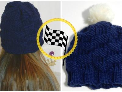 [ DIY ] Bonnet point damier au tricotin circulaire