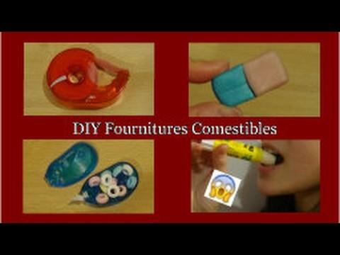 diy fournitures scolaires comestibles just diy. Black Bedroom Furniture Sets. Home Design Ideas
