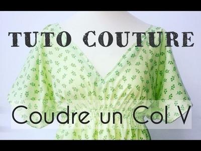 Coudre un Col V avec un biais en parmenture - Tuto Couture DIY