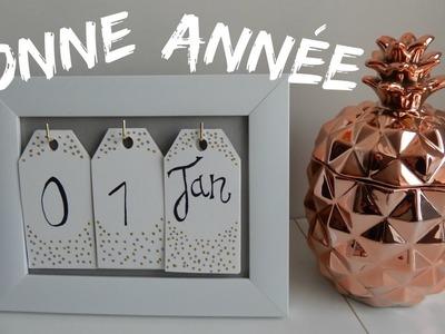 DIY : BONNE ANNÉE !! (calendrier)