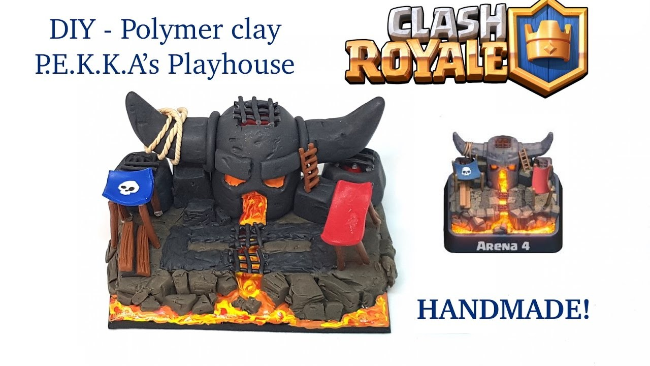 DIY Clash Royale Arena 4 - P E K K A's Playhouse - Polymer clay tutorial