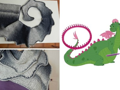 [ DIY ] Echarpe queue de dragon au tricotin circulaire