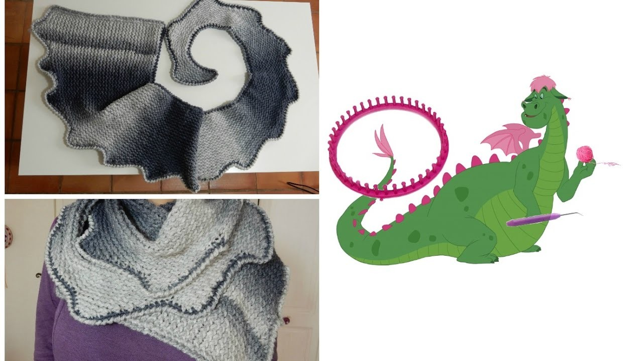 DIY   Echarpe queue de dragon au tricotin circulaire 2c6581cd6fd