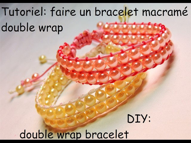 tutoriel faire un bracelet double wrap diy double wrap bracelet. Black Bedroom Furniture Sets. Home Design Ideas