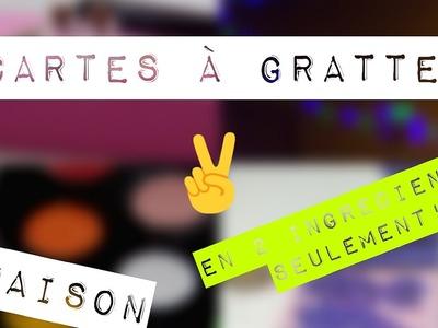 D.I.Y| Créer ses propres cartes à gratter! - Create your own scratch cards! Français.English ????