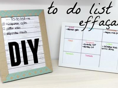DIY cadre to do list effaçable (en carton)