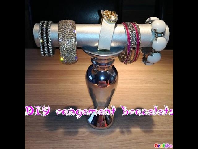 DIY rangement bijoux bracelets