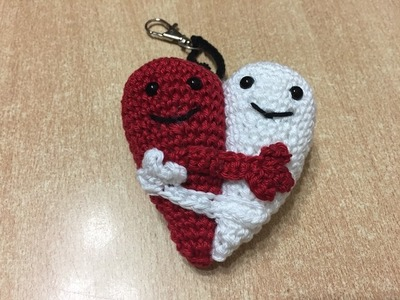 Tuto amigurumi coeur entrelacé au crochet spécial gaucher