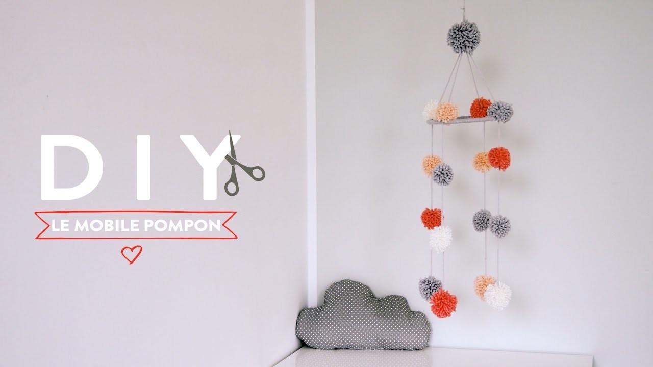 Un mobile pompon pour bébé - DIY Westwing France