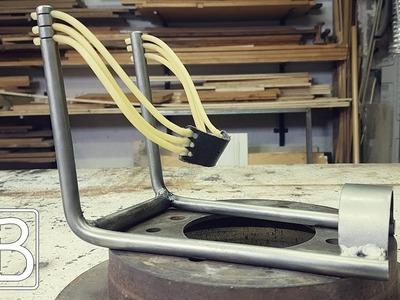 Comment faire un lance pierre en métal - DIY. ⓇⒷ