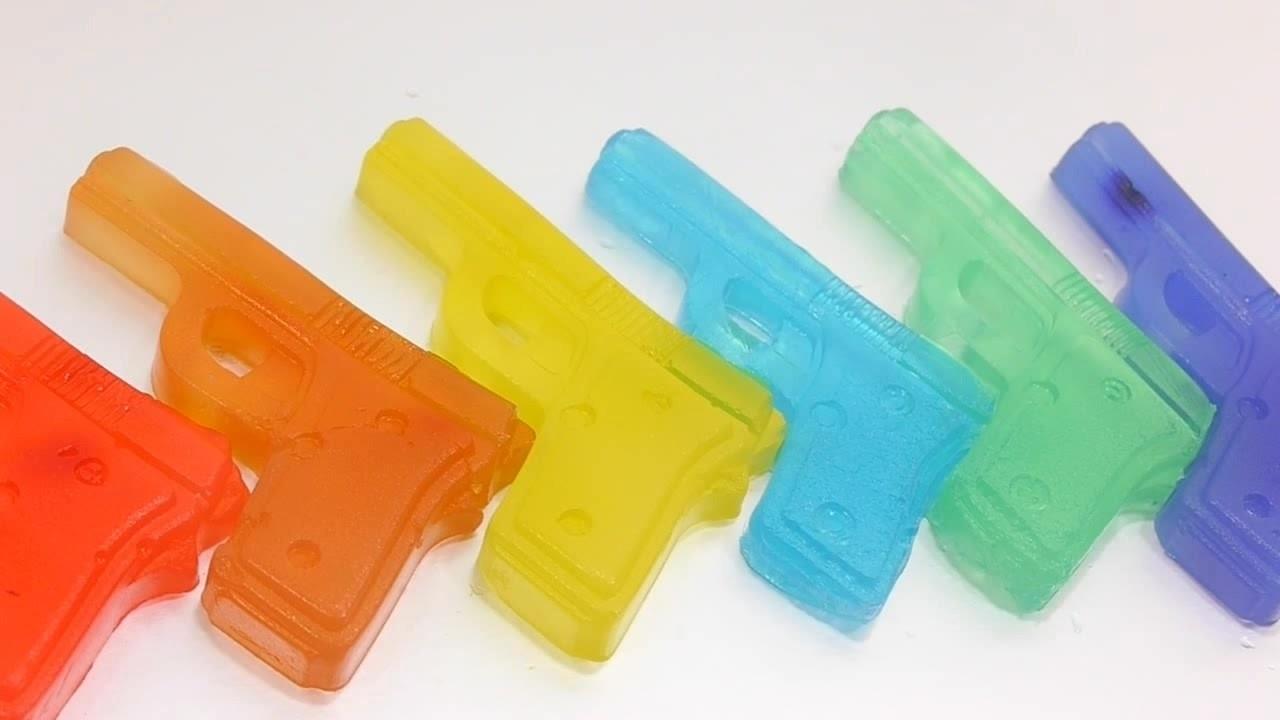 Diy comment faire des pistolets arc en ciel pudding apprendre nombre enfants - Comment fabriquer un pistolet ...
