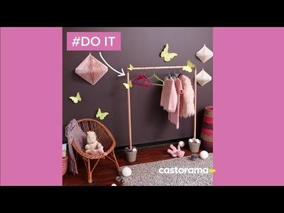 DIY : fabriquez un portant pour enfant en bois & cuivre - Castorama