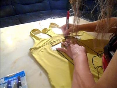 DIY : Réalisation d'un T-shirt pour mesurer la pousse des cheveux