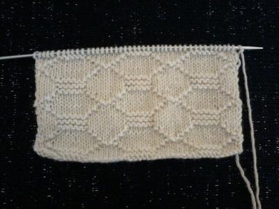 DIY  tuto point de tricot  le point carrelage ( 1 )