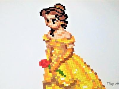 La Belle et la Bête - Pixel Art Belle