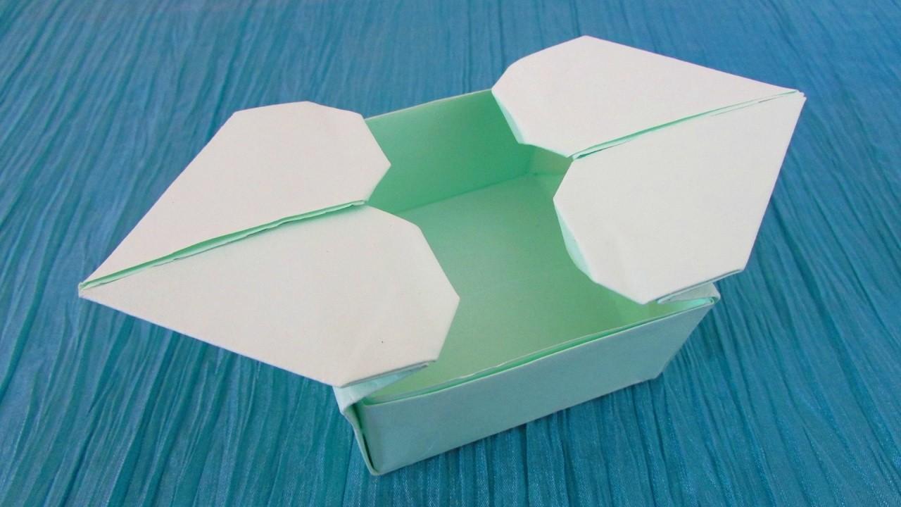 Origami bo te double c ur - Origami boite coeur ...