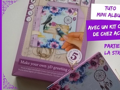 Tuto.DIY Scrap Mini Album avec kit cartes de chez Action (Partie 1)