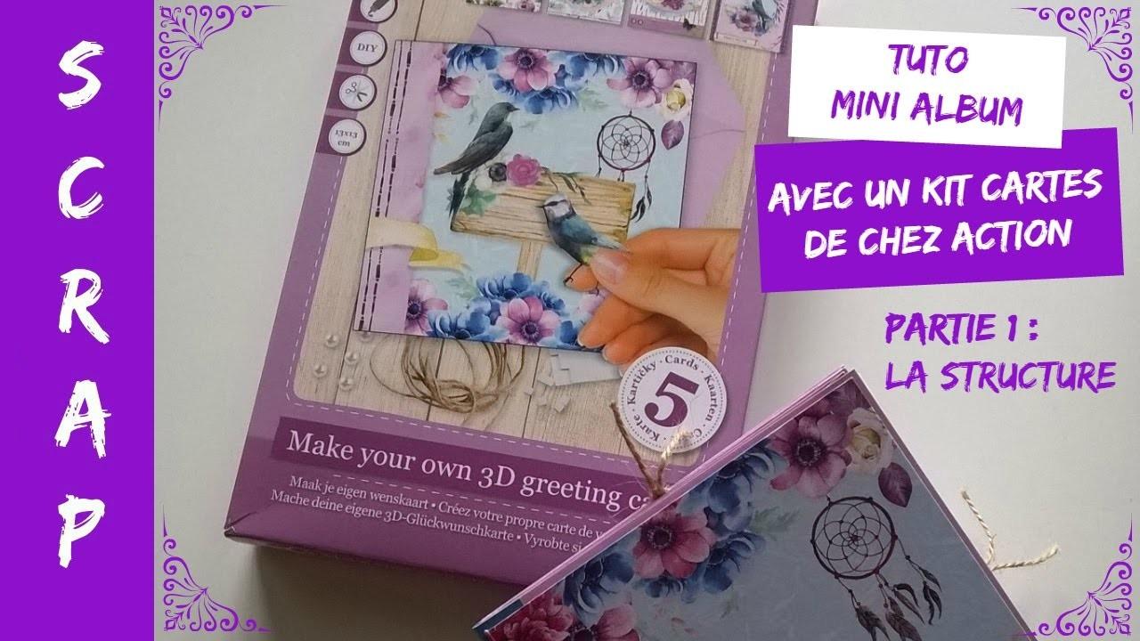 Tuto.DIY Scrap Mini Album avec kit cartes de chez Action (Partie 1)