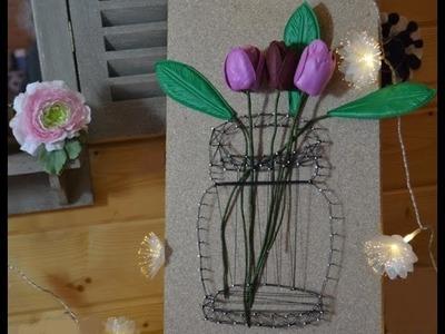 DIY TABLEAU Illusion Vase FILS TENDUS Tutoriel ☆ LOISIRS CREATIFS