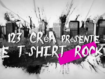 "TUTO ""T shirt ROCK enfant"" DIY"