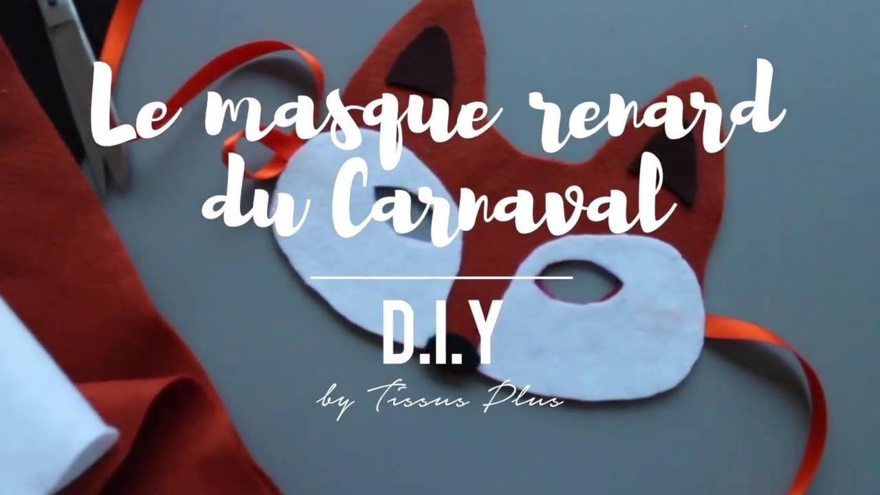 D.I.Y. Le masque de renard du Carnaval  by Tissus Plus