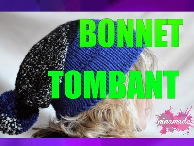 DIY. Bonnet Tombant Avec Deux Aiguilles. Slouchy Beanie With Two Needles
