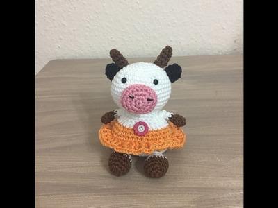 Tuto amigurumi vache au crochet spécial gaucher
