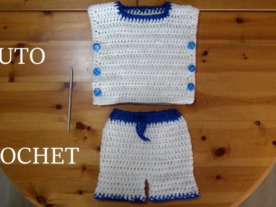 TUTO CROCHET COMMENT FAIRE UN ENSEMBLE GARCON
