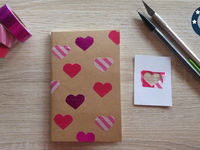 DIY le carnet de St Valentin en Washi Tape