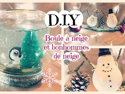 D.I.Y Boule à neige et Bonhommes de neige