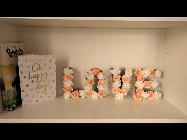 DIY - Lettres fleuries ???? - Blandine Lifestyle