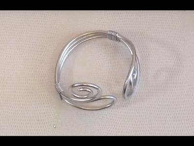 ► [ TUTO ] Fil d'Aluminium Réalisation d'un Bracelet en Fil Aluminium Argent 3mm