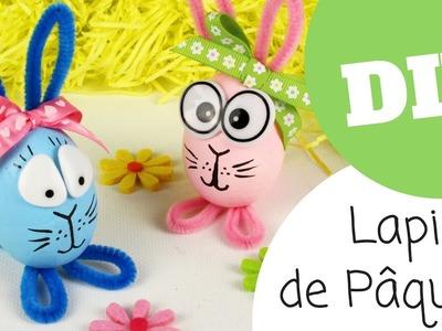 Astuce pour transformer des oeufs en lapins de Pâques (DIY. Tutoriel vidéo 10 Doigts)