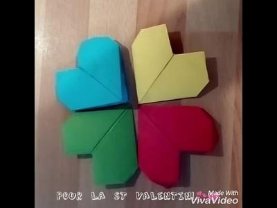Origami cœur DIY spécial St Valentin !????