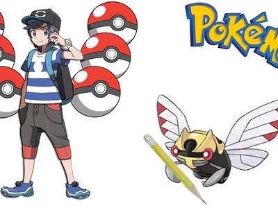 SpeedDraw - Mon équipe de Pokémon Soleil en dessin !