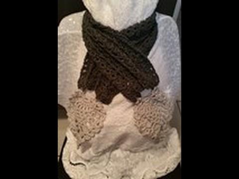 Tuto echarpe feuille facile au crochet - Echarpe au crochet facile a faire ...