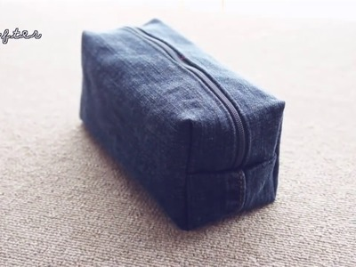 DIY Cartuchera de jean