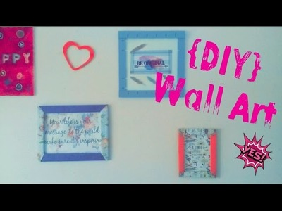 [DIY] Wall Art.اصنع وحدك] كواتروات للديكور]. [DIY] Cadres Déco
