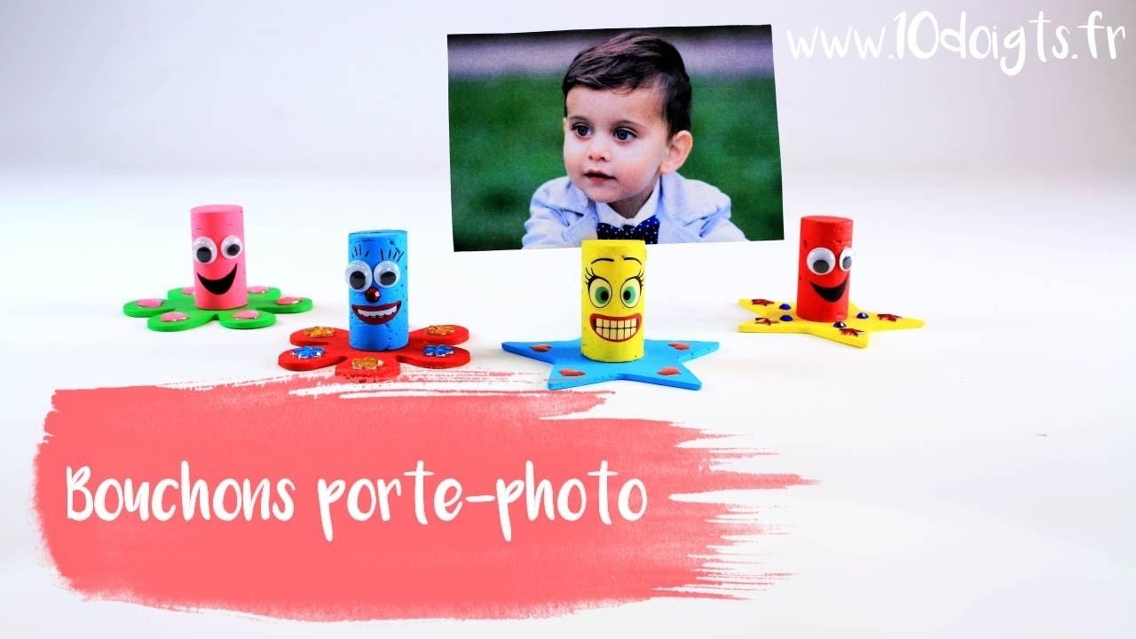 Fabriquer des porte-photos rigolos avec des bouchons en liège (DIY. Tutoriel vidéo 10 Doigts)