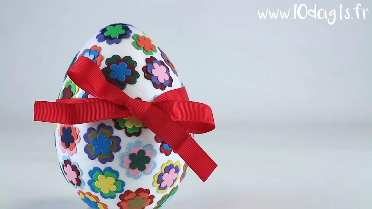 Fabriquer un oeuf surprise de Pâques (DIY. Tutoriel vidéo 10 Doigts)