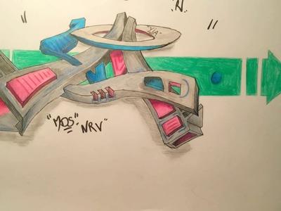 Graffiti 3D Speed drawing!
