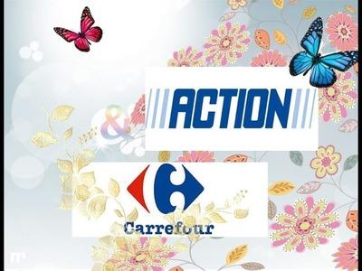 """""""HAUL"""" Achat Scrapbooking Action & Carrefour J'ai craquer!!"""