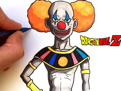 DESSIN DU CLOWN (DIEU DE LA DESTRUCTION) - DRAGON BALL SUPER