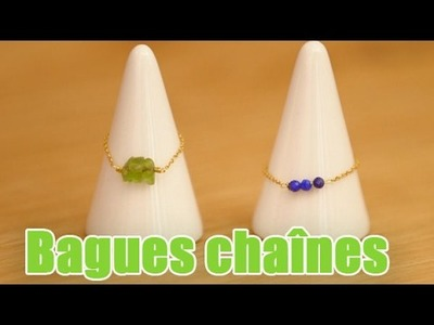 DIY Bagues fines chaines