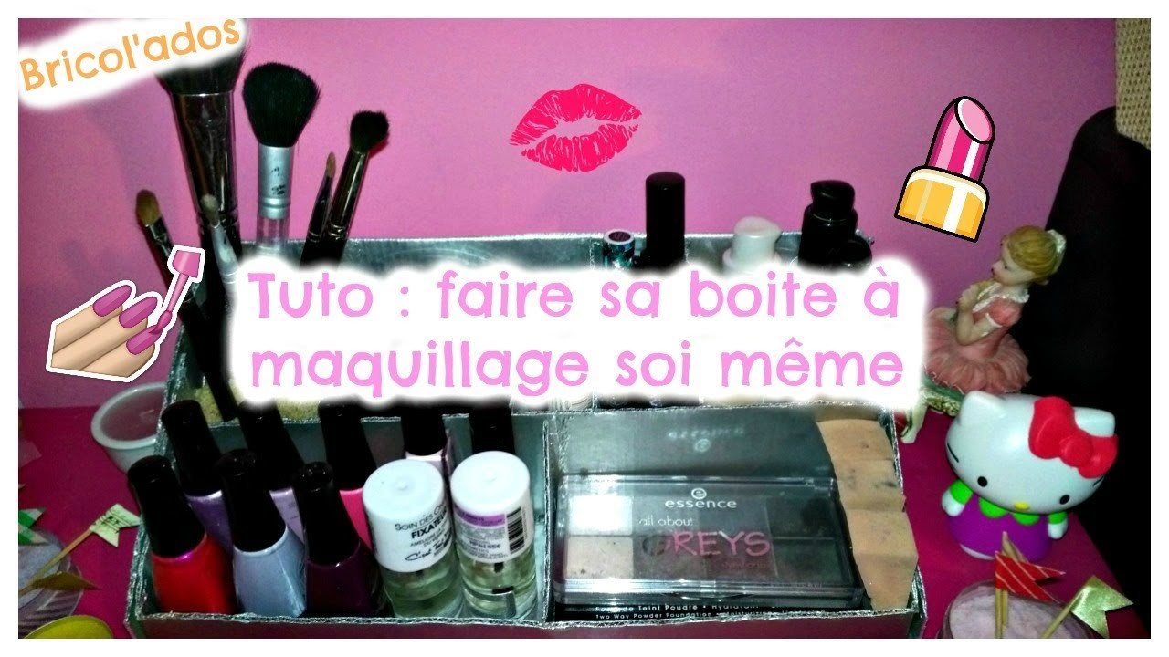 diy faire sa boite a maquillage soi m me. Black Bedroom Furniture Sets. Home Design Ideas