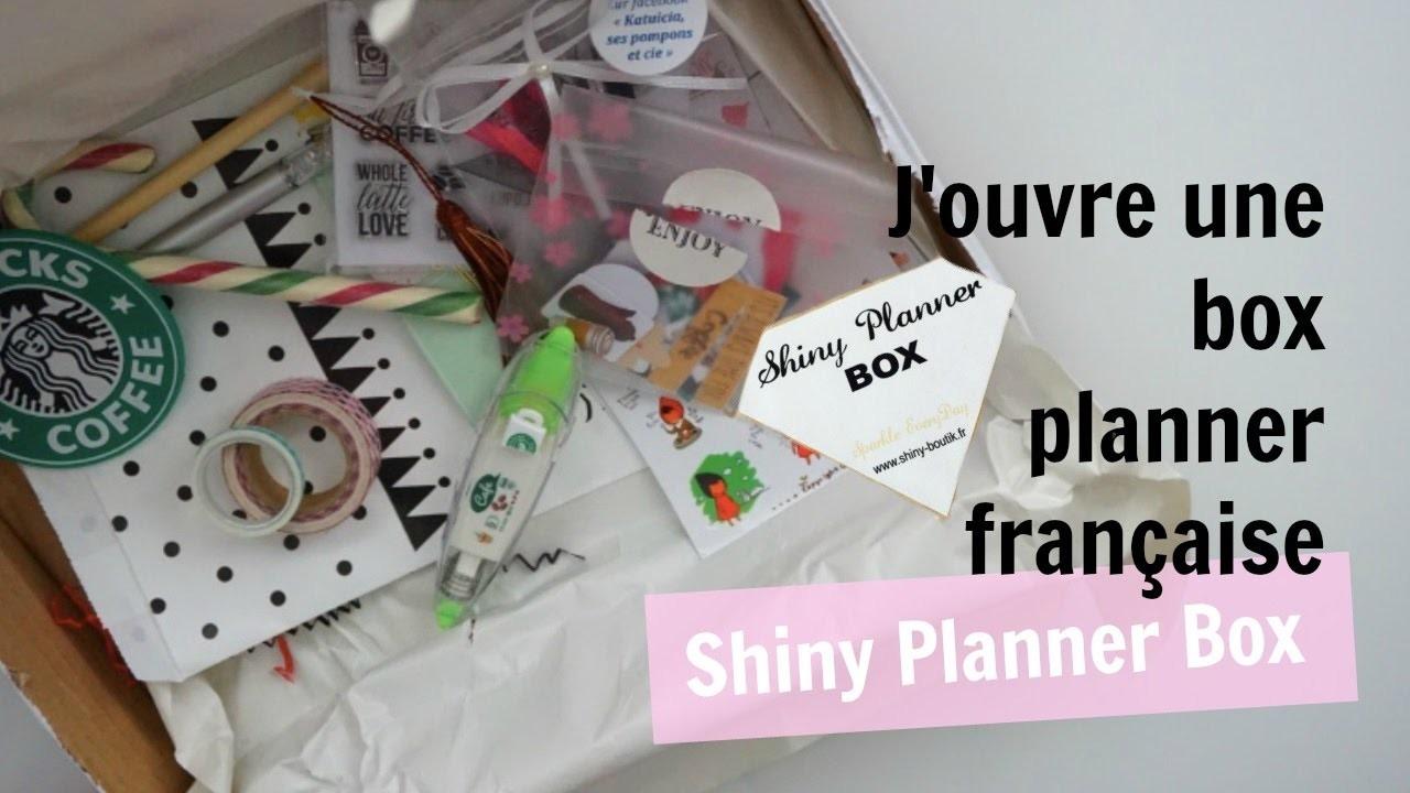 J'ouvre une box planner française - SHINY PLANNER BOX ????