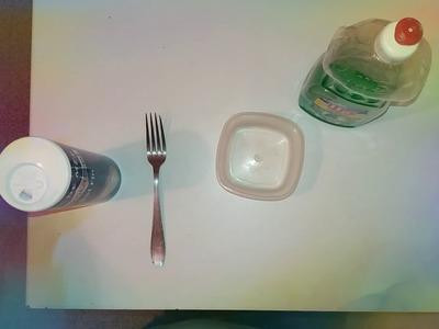Slime test avec : liquide vaisselle w5 et sel  fin
