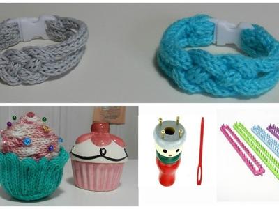 [Tuto] Idées au tricotin à 4 picots (Cupcake. Bracelet)