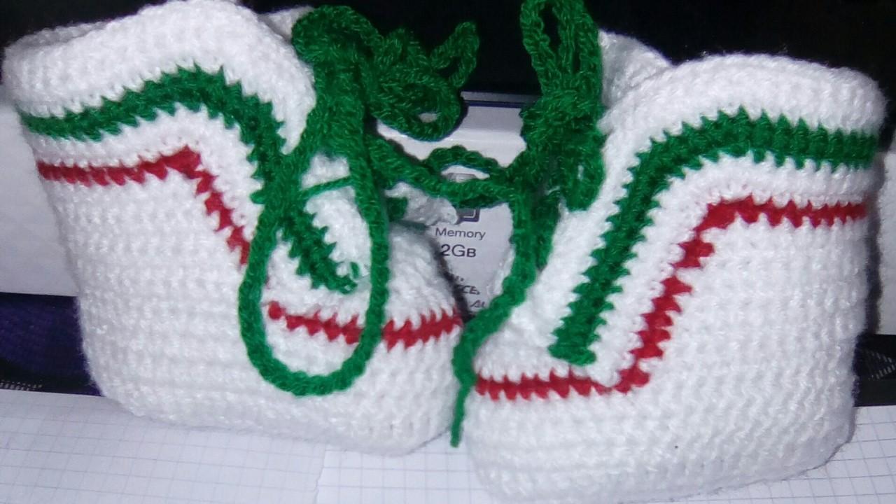 Chaussons bébé au crochet 1-1