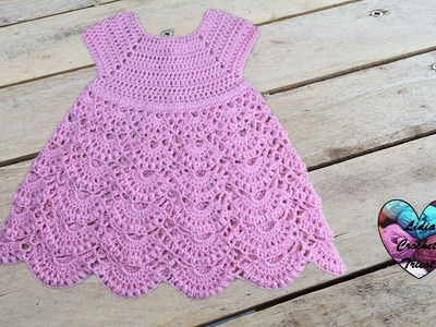 Robe princesse crochet toutes tailles 1.2. Princess dress crochet all sizes (english subtitles)